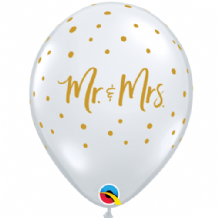 Mr & Mrs Dots - 11 Inch Balloons 25pcs